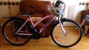 Ladies bicycle including helmet