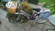 Ladies Falcon Bike including lock,  helmet,  basket & stand